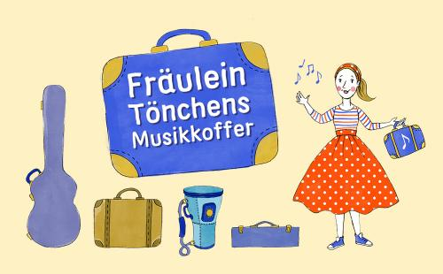 Fräulein Tönchens Musikkoffer – Grafik: Nontira Kigle